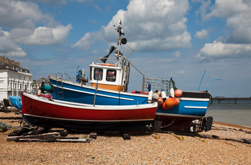 Old boats on Deal Beach