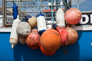 Colorful boat bumpers