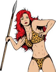 Jungle or prehistoric gal