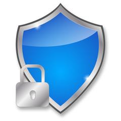glossy blue shield