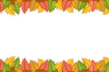 Autumn border with leaves - vector EPS AI8