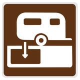 road sign - camper hook-up poster