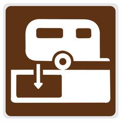 road sign - camper hook-up