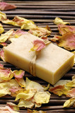 rose withered petals and soap poster
