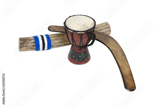 Boomerang, Drum and Rainstick