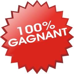 bouton 100% gagnat