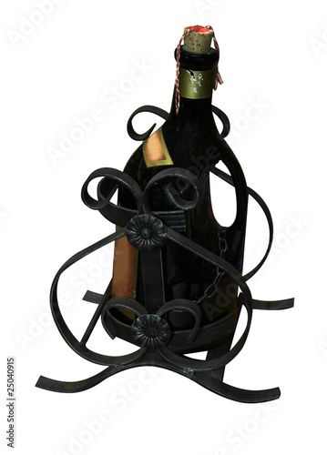 Wine Bottle in Holder