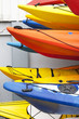 Colorful kayaks,