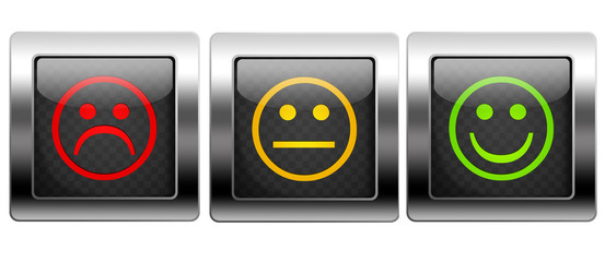 Metal Button Smiley
