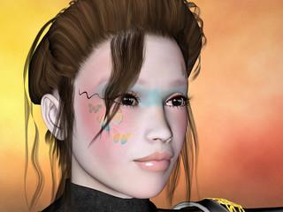 visage peint