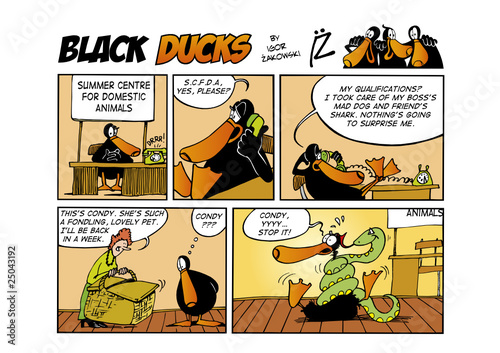 Foto op Plexiglas Comics Black Ducks Comic Strip episode 51