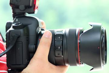 Kamera in Großaufnahme