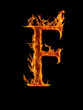 """Fire letter """"F"""""""