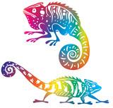 Fototapete Tier - Colorful - Reptilien / Amphibien