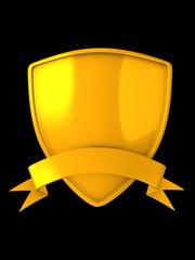gold shield badge