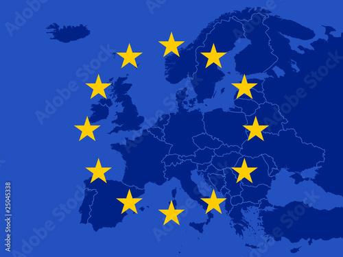 Leinwanddruck Bild Europa