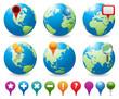 Globes & Navigation Icons