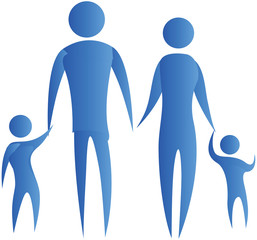human family holding hands