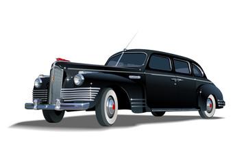Vector retro limousine
