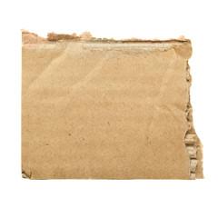 Scrap of cardboard