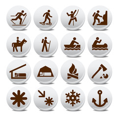 Set of different tourist location icon vector