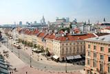 Fototapety Krakowskie Przedmiescie in Warsaw against city center.
