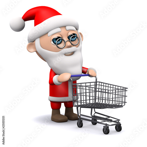 3d Santa goes shopping