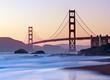 Leinwandbild Motiv San Francisco's Golden Gate Bridge at Dusk
