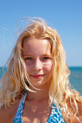 portait of young blonde girl