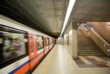 Modern metro station. Warsaw in Poland. - 25055101