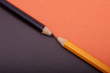 Two colored pencils