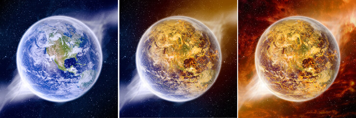 Effect of global warming on Earth pack