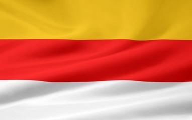 Landesflagge von Kärnten - Österreich