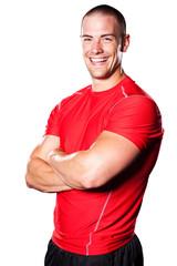 Muscular athlete