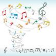 music notes tornado