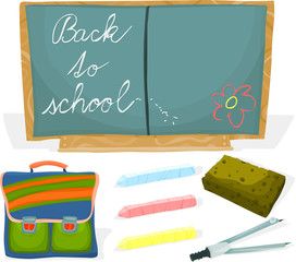 Set of a school accessories B