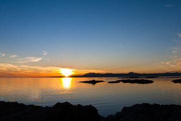 Sunset over the point of Sleat on the Isle of Skye