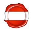 button österreich, austria, siegel, stempel, plakette