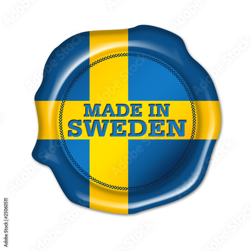 made in sweden, button, siegel, stempel