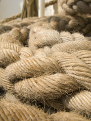 Ropes on ship