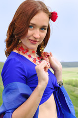 gipsy girl in blue