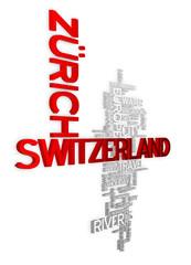 Zurich - 3D Typography Wallpaper