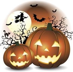 Zucche di Halloween-Halloween Pumpkins-Vector
