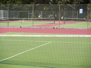 Tennis courts at sports center
