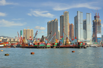 China, Hong Kong harbor
