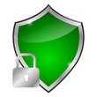 glossy green shield - protection