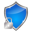 glossy blue shield - protection