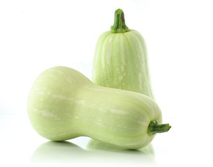 summer squash isolated on white