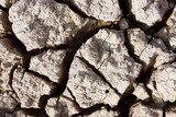 Cracks in dry earth
