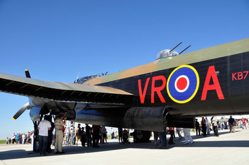 Fuselage and mid turret of a RAF lancaster bomber